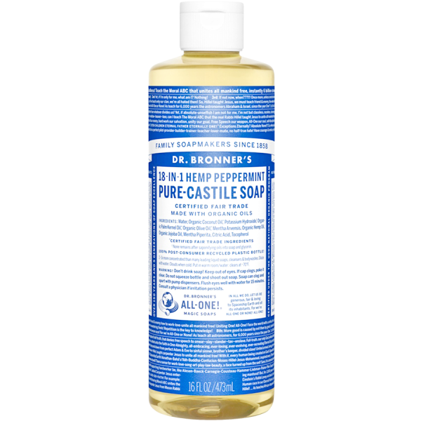 PURE-CASTILE LIQUID SOAP PEPPERMINT 473ML