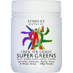 Organic Super Greens Synergy Natural 200g powder